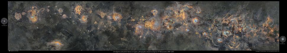 234개의 사진을 이어붙여 만든 은하수 사진