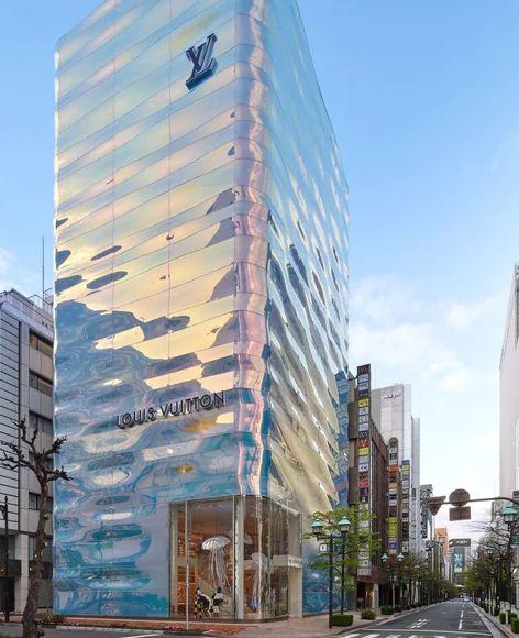 La nouvelle façade de la boutique Louis Vuitton à Tokyo