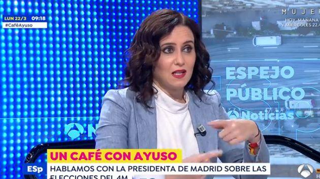 Isabel Díaz Ayuso responde en 'Espejo Público' a los que la llaman