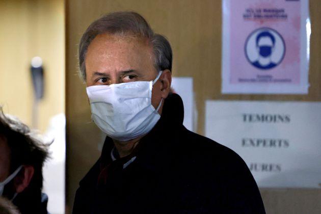 Georges Tron au tribunal judiciaire de Paris le 19 janvier 2021.