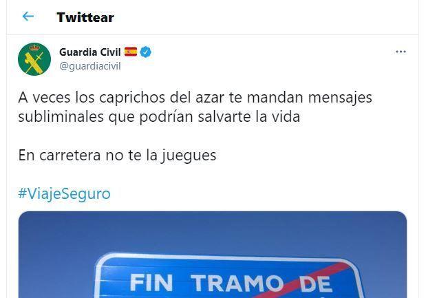 El tuit de la Guardia