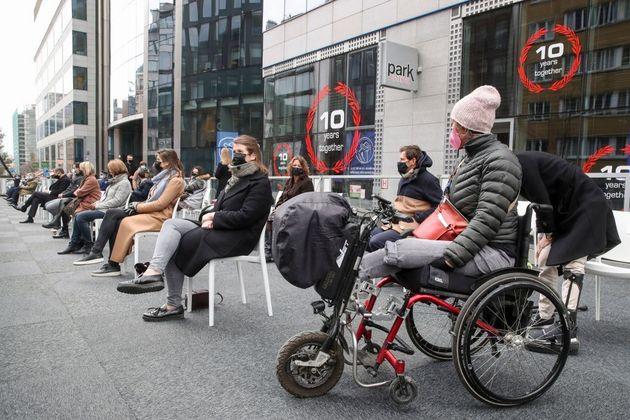 5 ans après, la cérémonie d'hommage aux victimes de l'attentat de Bruxelles, qui...