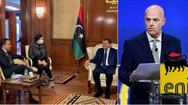 Il ministro Di Maio incontra il nuovo governo di Tripoli; l'ad di Eni Claudio