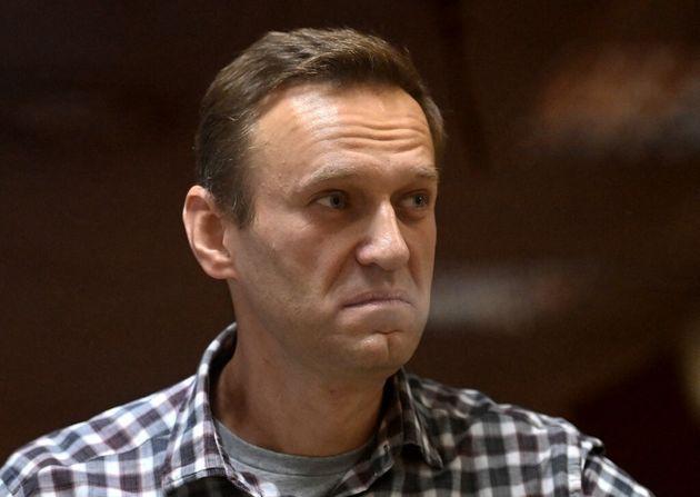 Alexei Navalny lors d'une audience de justice à Moscou le le 20 février