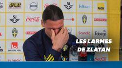 Les larmes de Zlatan Ibrahimovic pour son retour en