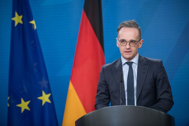 BERLIN, GERMANY - MARCH 19: German Foreign Minister, Heiko Maas speaks to the media ahead of the Sahel...