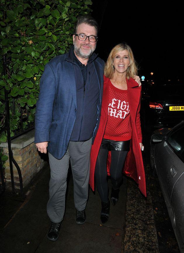 Kate Garraway and her husband Derek at Piers Morgan's Christmas party in
