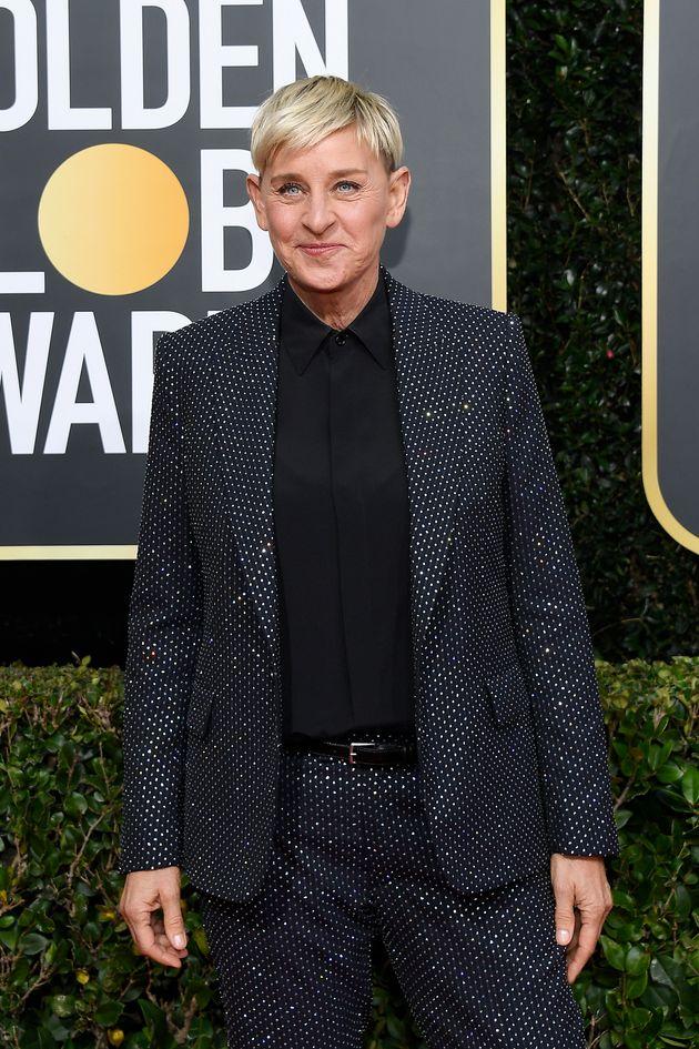 Ellen Dengeneres at the Golden Globes last