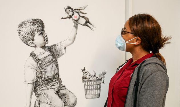 """""""Game Changer"""" de Banksy, vendu aux enchères, mardi 23 mars, au profit du"""