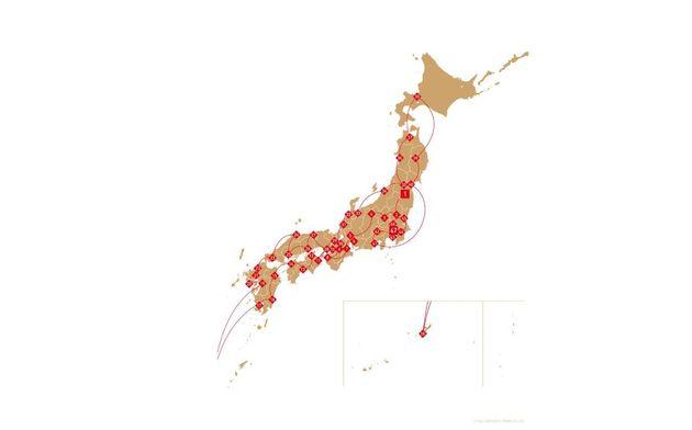 Le parcours de la flamme olympique dans les 47 préfectures du