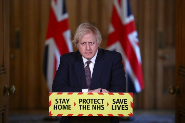 Prime minister Boris Johnson during a media briefing in Downing Street, London, on coronavirus