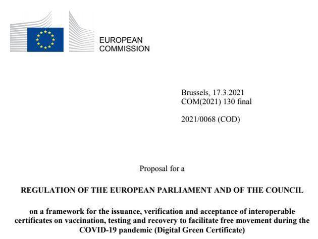 To έτοιμο σχέδιο Κανονισμού του Ευρωπαϊκού Κοινοβουλίου και του Ευρωπαϊκού