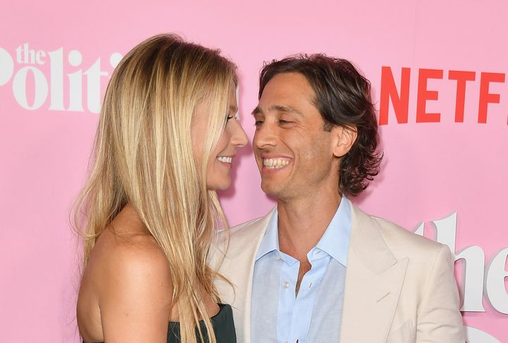 Gwyneth Paltrow and Brad Falchuk arrive for the Netflix premiere of
