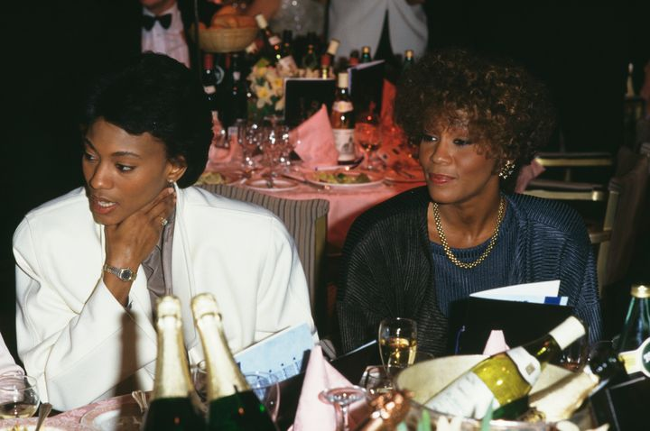 Robyn Crawford (left) and Whitney Houston in 1988.