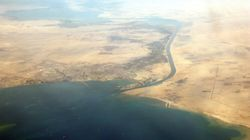 The Suez Canal Is Clogged By An Absolutely Huge