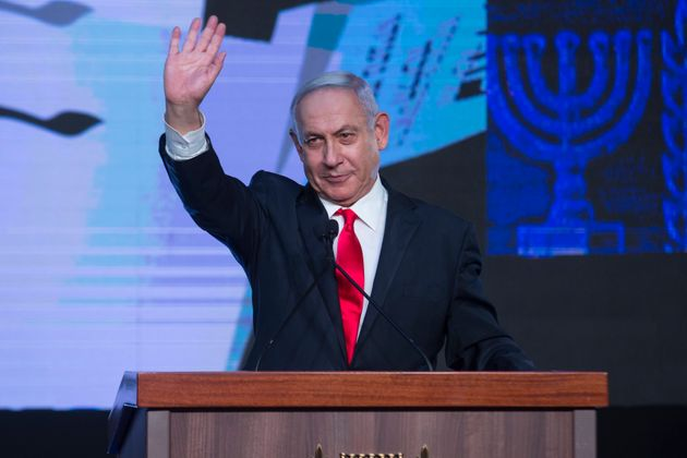 Benjamin Netanyahu, anoche, valorando los resultados