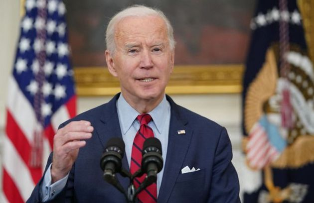 US President Joe Biden speaks about the mass shooting at a grocery store in Colorado on Monday, calling...