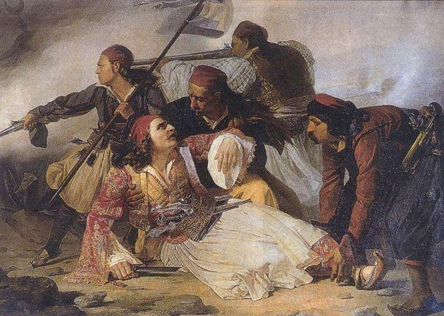 Ο θάνατος του Μάρκου Μπότσαρη του Ludovico lipparini