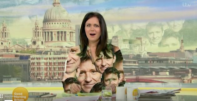 Susanna – digitally wrapped in Ben Shephard's face – was unsure how to react to his faux