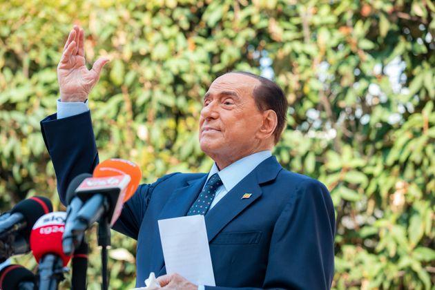 Silvio Berlusconi, el pasado septiembre, en una comparecencia tras su salida del Hospital de San