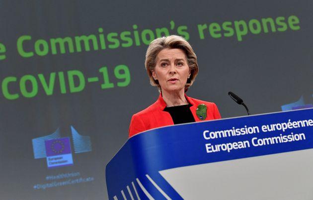 La présidente de la Commission européenne Ursula von der Leyen (Photo JOHN THYS / POOL /