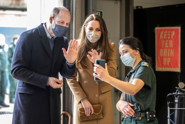 Prince William and Kate Middleton touring the U.K. during COVID-19.