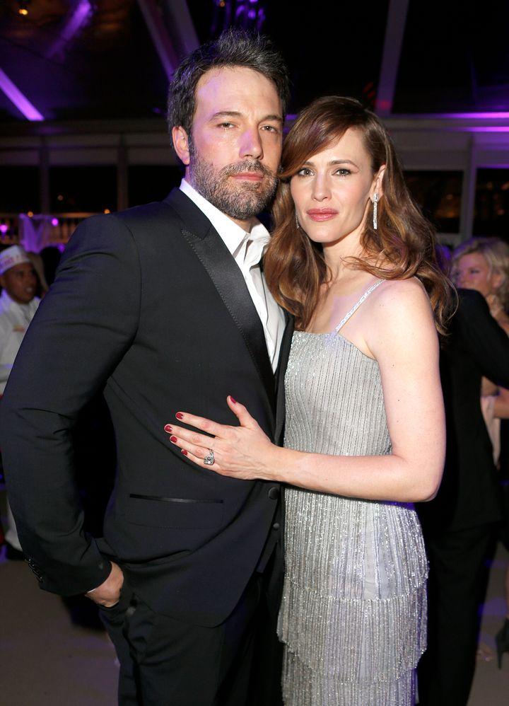 Ben Affleck and Jennifer Garner attend the Vanity Fair Oscar Party together in 2014.