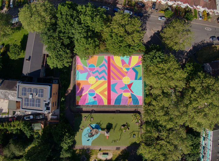 High Flying Drone Shots of Creative Courts