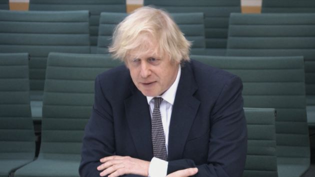 Boris Johnson gives evidence to the Commons Liaison Committee in the House of Commons, London. Picture...