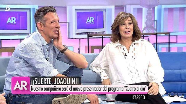 Joaquín Prat y Ana Rosa Quintana, presentadores de Cuatro y Telecinco, en una imagen de