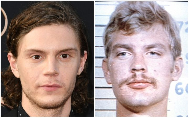 "Actor Evan Peters (left) will play serial killer Jeffrey Dahmer in Netflix's""Monster: The Jeffrey Dahmer Story.&r"