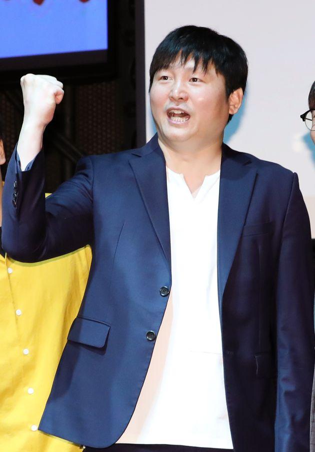 개그맨 김대범이 23일 오전 서울 마포구 상상마당 라이브홀에서 진행된 '코미디위크 인 홍대' 기자간담회에 참석해 포즈를 취하고 있다.