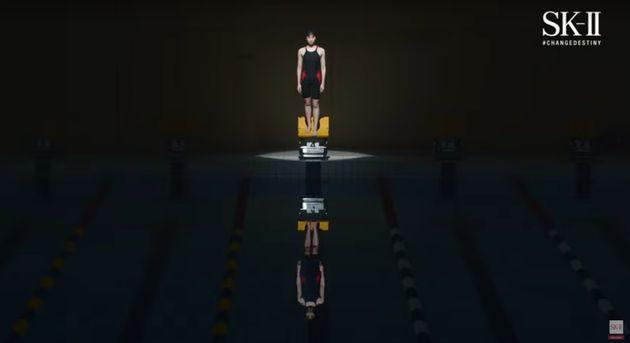 もう一度センターレーンに立つ池江選手