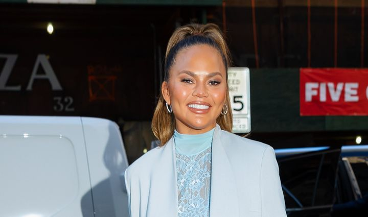 Chrissy Teigen, here at NBC Studios in New York City on Feb. 19, 2020, was known for outspoken comments and no-holds-barred r