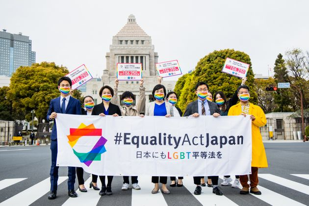 署名提出前に集まるEquality Act