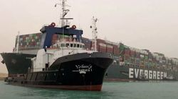 Stuck Cargo Ship Charted X-Rated Route Before Blocking Suez