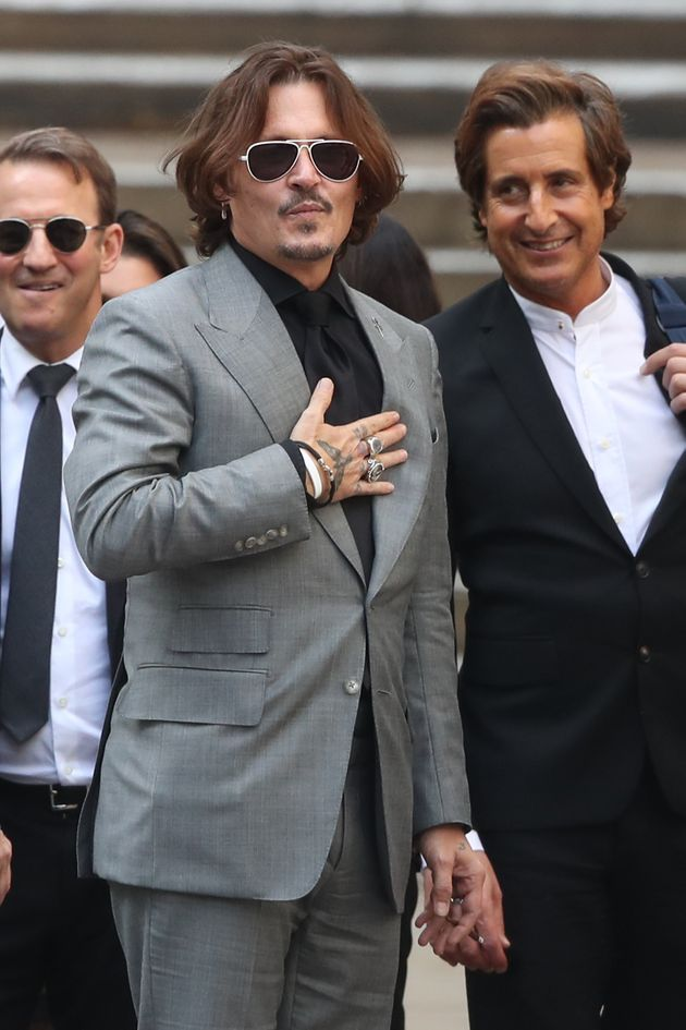 Johnny Depp pictured in July
