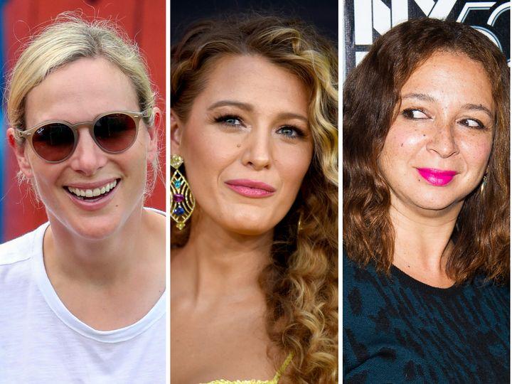 Zara Tindall, Blake Lively y Maya Rudolph.