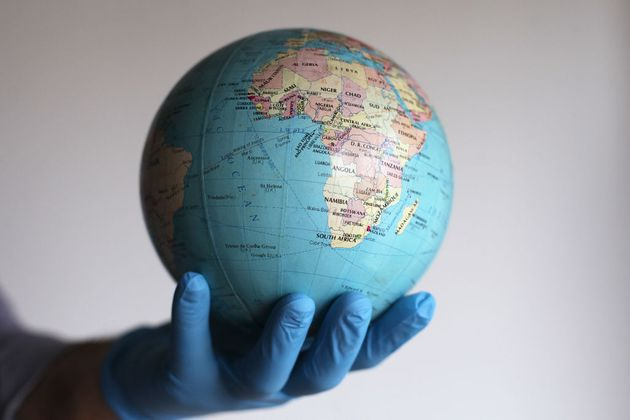 Photo Illustration of a globe in Buenos Aires, Argentina, on August 6, 2020. Russia said it will produce...