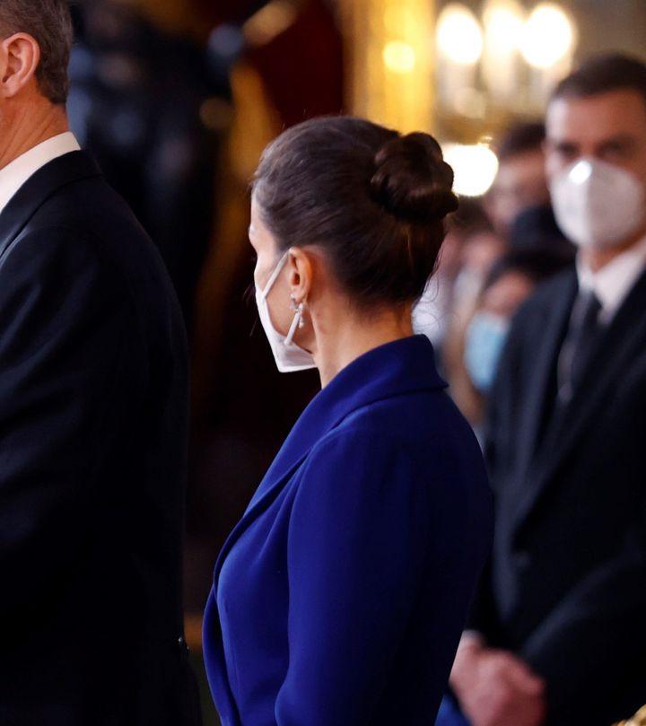 En la recepción del cuerpo diplomático, en enero
