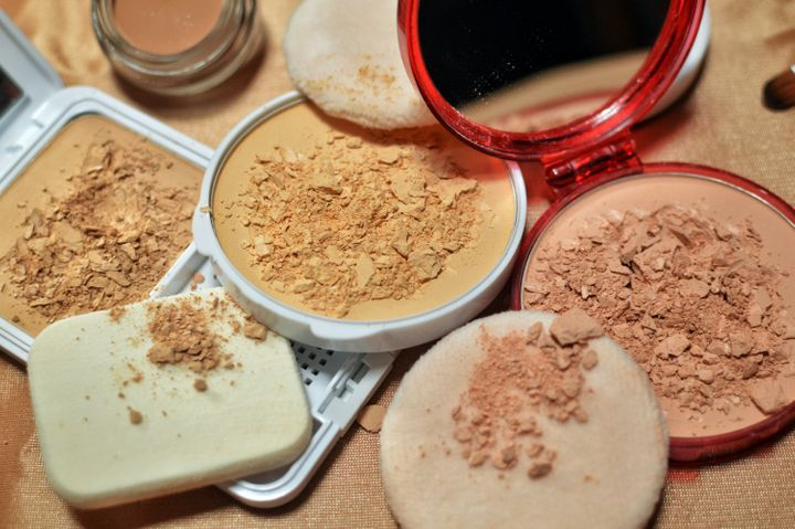 Toss out opened foundations, concealers and powders if they're more than a year old.