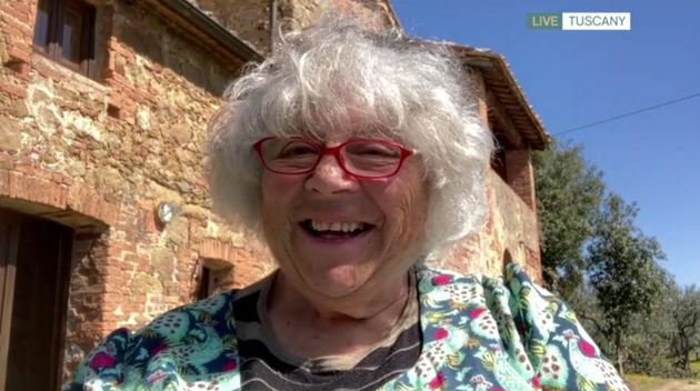 Miriam Margolyes speaking from her home in
