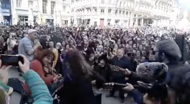 Le 17 mars, à Montpellier, le chanteur HK a joué son