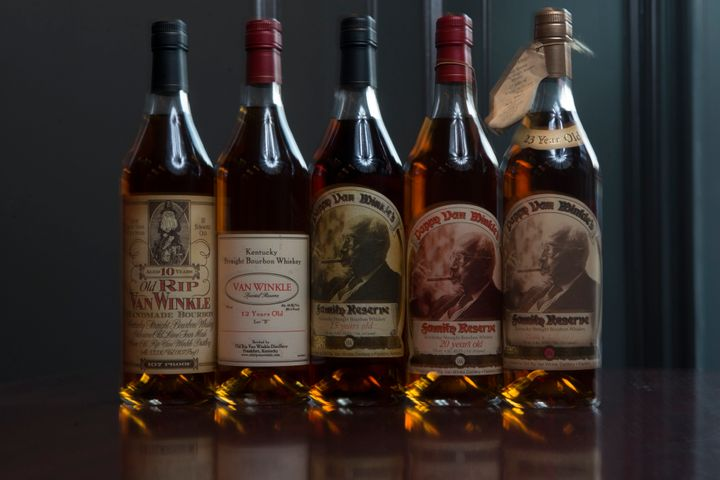 The suggested retail price of Pappy Van Winkle goes up to around $300 per bottle,but most people who find it generally wind up paying much more.