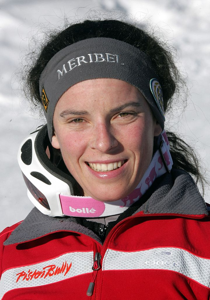 Pomagalski, pictured during a 2006 training session, died along with a guide in the avalanche, according to reports.