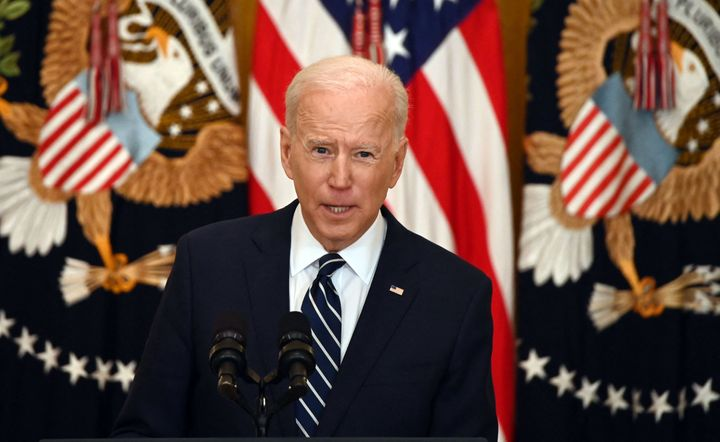 President Joe Biden held his first press conference Thursday at the White House.