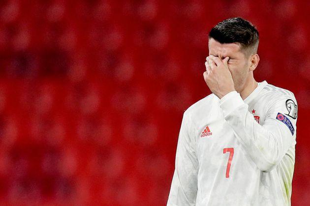 Álvaro Morata, frustrado a pesar de