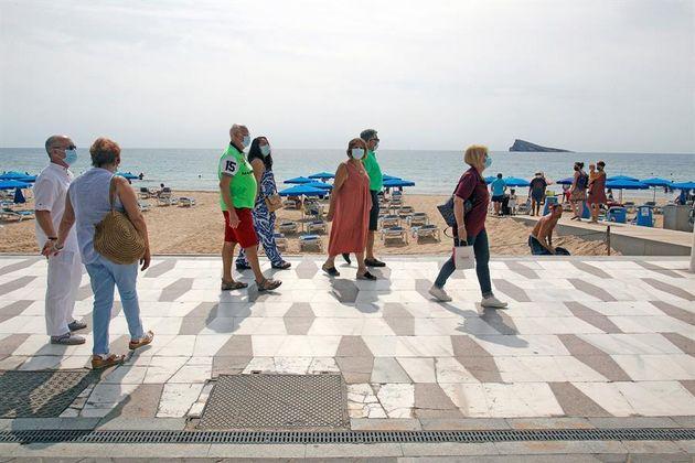 Un grupo de turistas en la