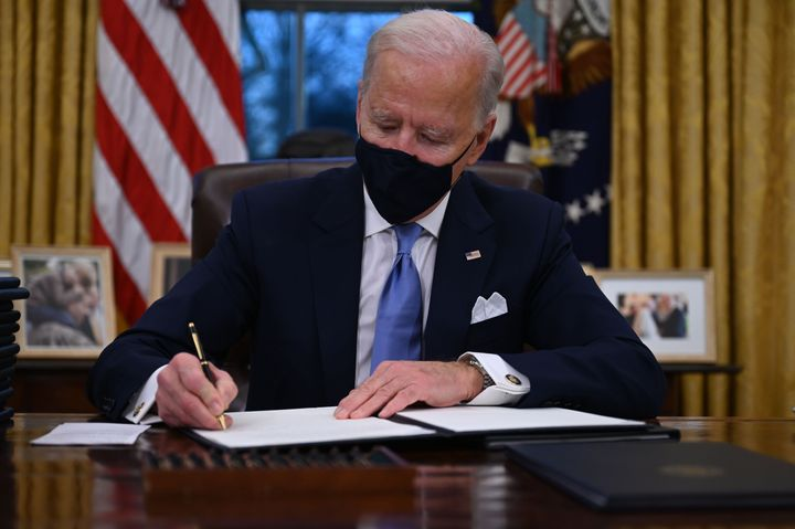 Biden has ended the ban on entries from mostly Muslim-majority countries, but his State Department has said it will not issue