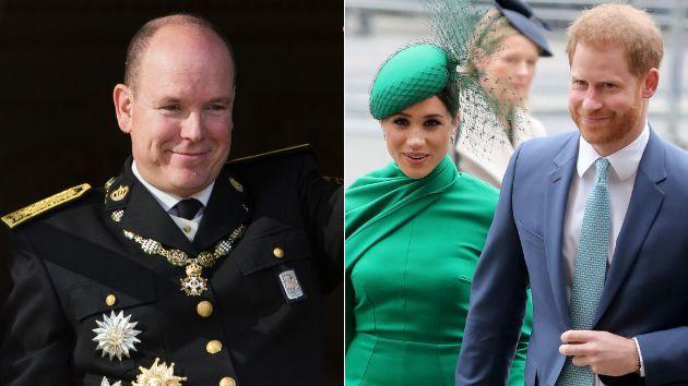 Alberto de Mónaco, Meghan Markle y el príncipe Harry.